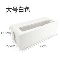 ��收�{盒 �源�插座插排插板整理集�盒 ��X�充�器�理�盒 大� 白色