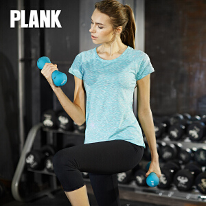 比瘦PLANK 女士 户外速干运动T恤 短袖透气快干跑步健身休闲t恤 PK011