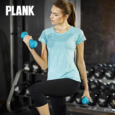 比瘦PLANK 女士 户外速干运动T恤 短袖透气快干跑步健身休闲t恤 PK011比瘦-专注于健康塑身14年