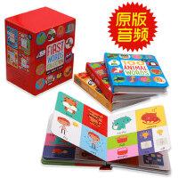 原版英文 幼儿英语启蒙4册盒装100 first words /100 animal words/ color and