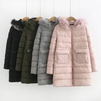 加大码女装冬装外套新款200斤胖mm棉袄中长款连帽棉衣潮