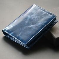 薄款小钱包女生钱包 薄女士两折短款 情侣中性折叠式简约牛皮夹钱夹