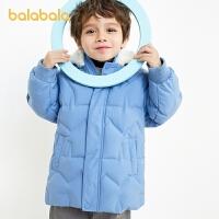 【3件4折:235.6】巴拉巴拉�和�羽�q服男童冬�b中�L款外套2020新款����童�b�B帽潮酷