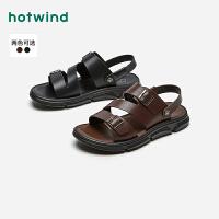 热风2021年夏季新款男士时尚凉鞋H64M1691