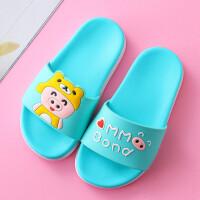 夏季儿童拖鞋卡通可爱小猪凉拖鞋男女童软底防滑居家浴室一字拖鞋
