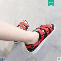女士平跟罗马沙滩鞋潮凉鞋女新款平底百搭韩版学生两穿拖鞋
