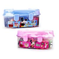 迪士尼专业儿童益智彩泥24色手提箱模具套装(米奇米妮款型随机)
