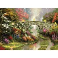 1000片木质拼图定制500手绘油画装饰画 小桥流水