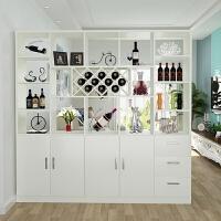 玄关柜客厅隔断柜现代简约实木质组装门厅装饰柜子进门屏风柜酒柜 组装