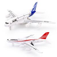 儿童玩具飞机合金飞机模型空客A588客机回力航模民航客机生日礼物
