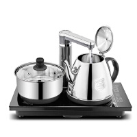 长城 自动上水壶电热水壶抽水烧水壶电水壶 保温泡茶壶茶具套装煮茶电磁炉电热水壶套装