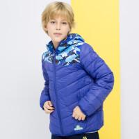 【专区99元2件】加菲猫童装男童连帽撞色拼接羽绒服中大童短款外套GJD17616