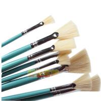 莫奈鱼尾扇 猪鬃扇形笔 油画 水粉画笔 8支套装13618
