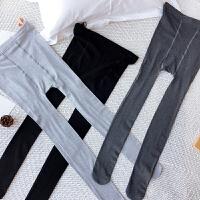 孕妇打底裤袜2018春季新款时尚百搭孕妇装纯色显瘦托腹连脚袜潮 均码