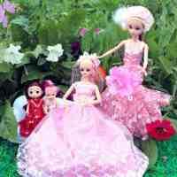 芭芘娃娃衣服换套装大礼盒婚纱公主 衣橱新年春节女孩玩具
