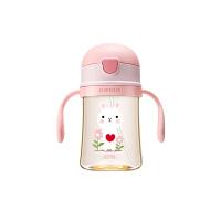 【限时秒杀】杯具熊(BEDDYBEAR)儿童学饮杯PPSU婴幼儿吸管杯 宝宝防摔漏卡通水杯240ml