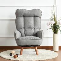 日式单人布艺休闲榻榻米懒人沙发电脑转椅孕妇喂奶哺乳高靠背坐椅