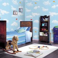 斯图牌 PVC自粘墙纸 百搭款 ST2084 4.5平方(蓝天白云)儿童壁纸 儿童房 胶面壁纸 直接贴 背景贴