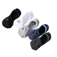 袜子男士船袜棉袜夏季薄款浅口低帮防臭吸汗隐形袜硅胶防滑短袜男