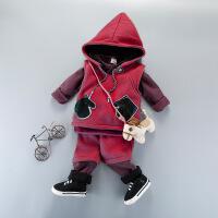 小童装男宝宝套装秋款男童婴幼童马甲卫衣三件套0-1-2-3周岁潮