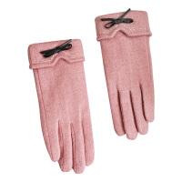 冬天触屏羊毛手套女士秋冬季韩版百搭加绒加厚骑开车保暖五指手套