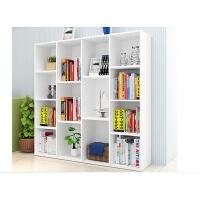 承重书架储物柜书柜格子柜木质小柜子简易收纳组合柜加固柜子 0.6米以下宽