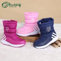 乖乖狗童鞋冬新款男童女童棉靴加厚保暖防滑防水靴子儿童雪地棉靴