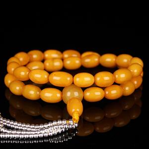 蜜蜡满蜡枣珠33手持念珠 直径8.5mm