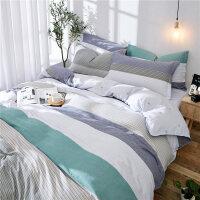 全棉纯棉宿舍床单人床上用品3三件套男生大学生寝室1.2米0.9m被套