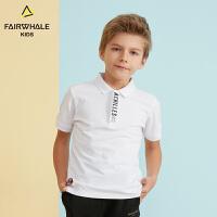【1件5折折后价77.4】马克华菲童装男童T恤19春夏新款韩版休闲上衣儿童短款洋气Polo衫