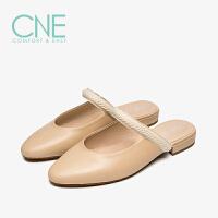 CNE2019夏季新款拖鞋女外穿晚晚鞋玛丽珍鞋穆勒鞋女拖鞋AM15401