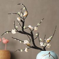 仿真梅花桃花树腊梅假花绢花电视柜客厅中式禅意陶瓷花瓶摆放花艺