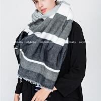 秋冬新款围巾女士韩版冬季长款保暖围巾超大毛边披肩丝巾两用围脖
