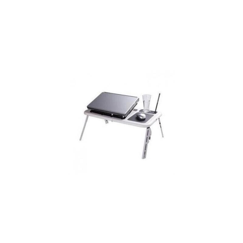 便携折叠式多功能床上笔记本电脑桌+带散热风扇笔记本支架