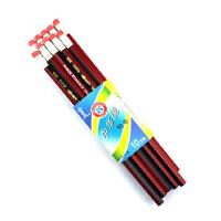 中华铅笔 6151木制铅笔 HB 铅笔 小学生带橡皮头书写铅笔 文具