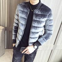 2018新款男士冬季加厚外套短款棉衣韩版羽绒棉棉袄DS215保暖
