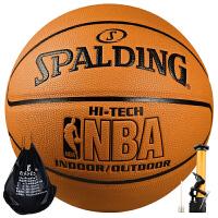 斯伯丁Spalding篮球 NBA室内室外通用蓝球7号比赛用球74-600Y原74-108