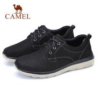 camel骆驼男鞋 秋冬新品时尚休闲牛皮鞋低帮系带轻盈鞋子