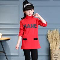 童装女童加绒卫衣01新款韩版秋装上衣中大童加厚长袖儿童装