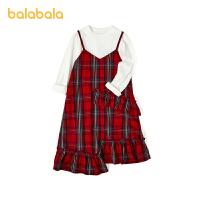 【1.27超品 3件3折:80.7】巴拉巴拉�和�裙子秋�b童�b女童�B衣裙大童吊��裙�杉�套潮