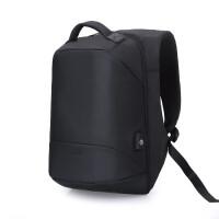 ?双肩包男士商务休闲17寸多功能电脑包大容量旅行包防盗出差背包男?