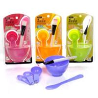 普润 美容四件套面膜碗+面膜棒+面膜刷+计量器 颜色随机