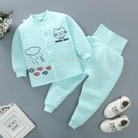 秋冬儿童保暖内衣套装婴儿男童女童宝宝夹棉加厚婴儿高腰保暖套装