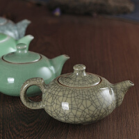 龙泉青瓷手工茶壶单壶陶瓷日系西施壶功夫茶茶壶哥窑冰裂倒小茶壶