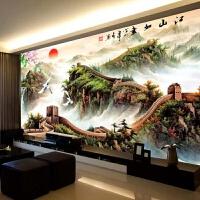 纯手工十字绣成品万里长城江山如画新款客厅卧室办公室玄关沙发背景绣好的风景装饰画