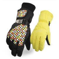 手套 男女滑雪手套 防�L保暖手套 �n版加�q加厚保暖手套 防�L防水滑雪手套