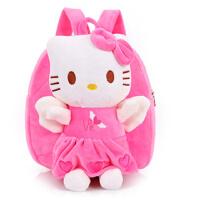 幼儿园宝宝小书包可爱娃娃KT猫小猪佩奇米奇毛绒儿童包卡通背包