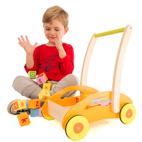 椴木木质多功能积木学步车婴儿助步车6-18个月 椴木木质多功能积木学步车