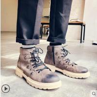 新品马丁靴男英伦风高帮男鞋网红时尚户外短靴雪地靴男工装靴男皮靴男士靴子男