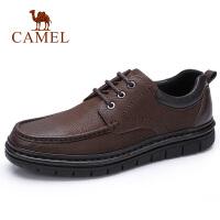 camel骆驼男鞋 秋季新款男士商务休闲皮鞋牛皮系带办公皮鞋